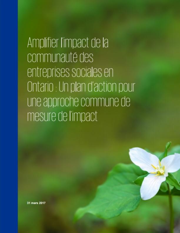 Amplifier l'impact de la communauté des entreprises sociales en Ontario